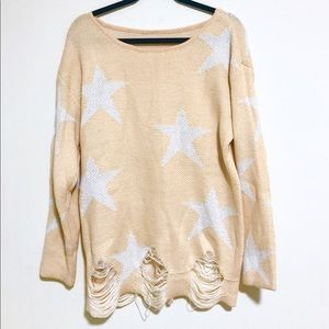 Sweaters - Oversized star sweater